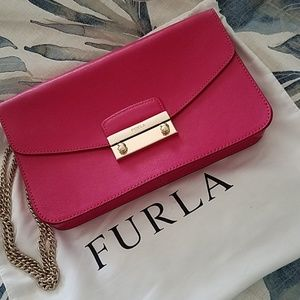 Furla Julia Pink Leather Bag